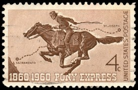 Pony Express Stamp (shutterstock_92011169)