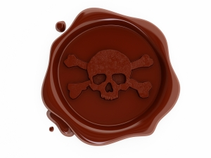 Skull Red Wax Seal
